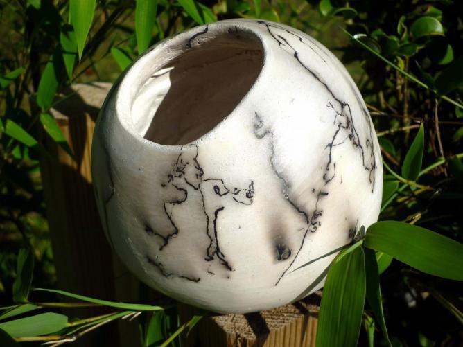 Vase boule crin de cheval