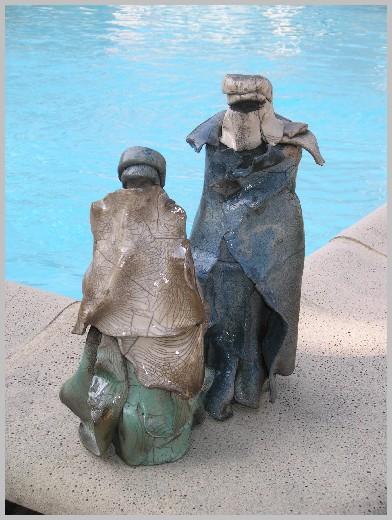Sculpture personnages raku