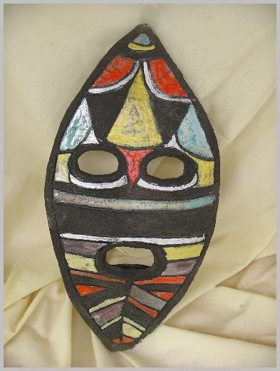 Masque Raku couleurs