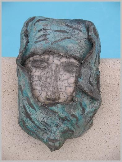 Masque Raku turquoise