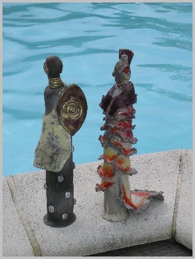 Sculpture Raku Personnages