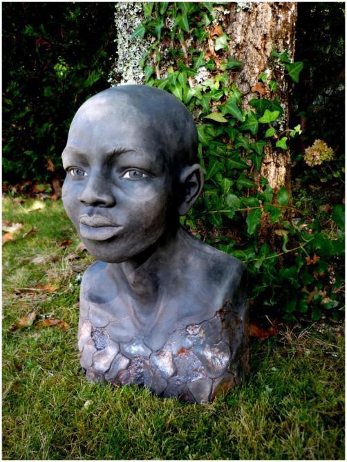 Tete Africaine Raku Virginie